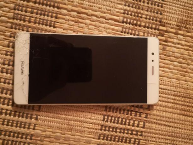 Huawei P9 biały srebrny uszkodzona szybka dotyk sprawny