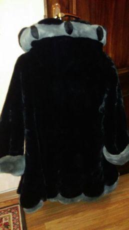 Зимняя шуба из искусственного меха