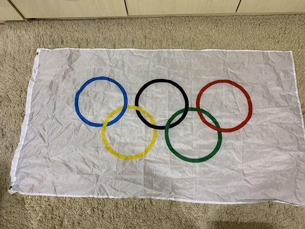 Флаг олимпийских игр 150*90 см олимпийский