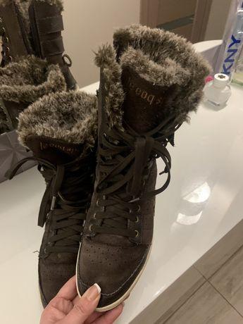 Продам французкие зимние замшевые кросовки Le Coq Sportif