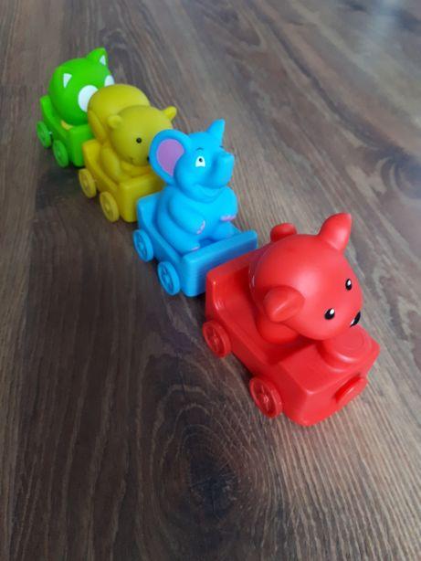 Kolorowy pociąg dla maluszka
