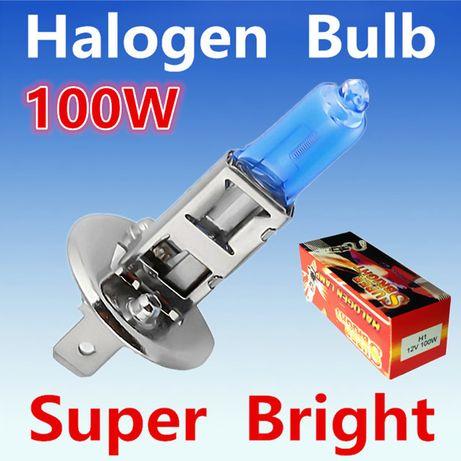 Галогеновые лампы Дальнего света Н1 100Вт 12В Супер яркий свет