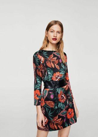 Платье Mango цветочный принт