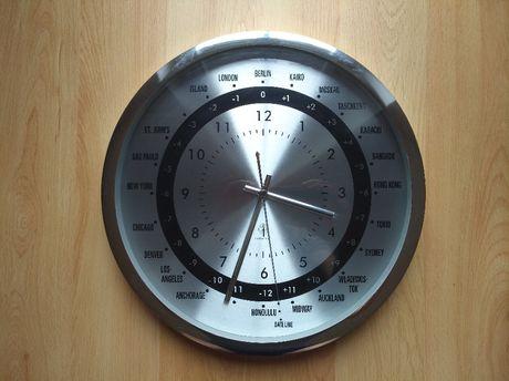 Zegar ścienny miasta świata radiowy