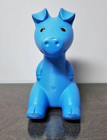 Niebieska świnka skarbonka Ikea