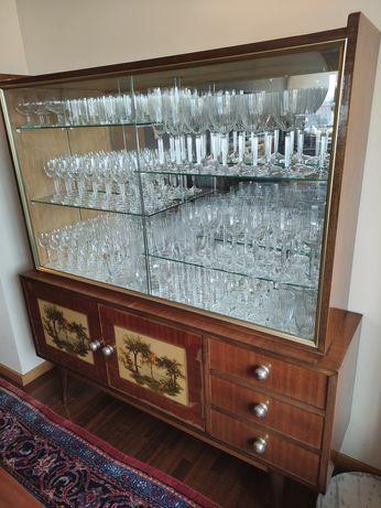 Móvel Antigo Vitrina Cristaleira Vintage Anos 50