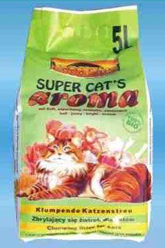 Żwirek dla kota bentonit 5 l Super Cat's Aroma