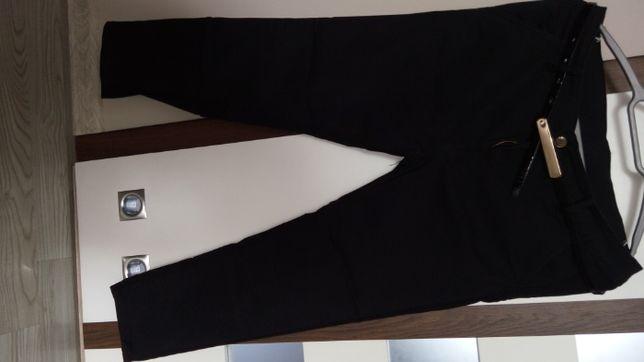czarne spodnie 7/8 M
