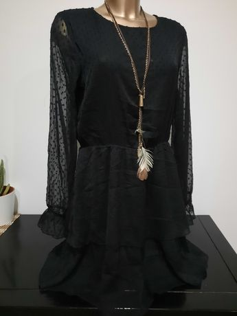 Vestido semi transparente NOVO