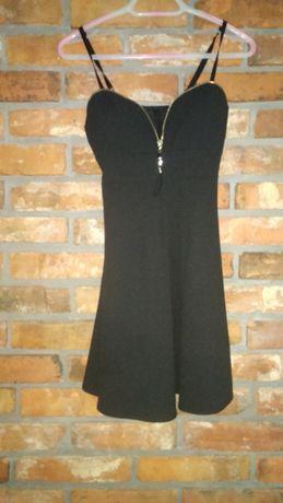 Sukienka czarna, na ramiączkach, mała czarna r.S