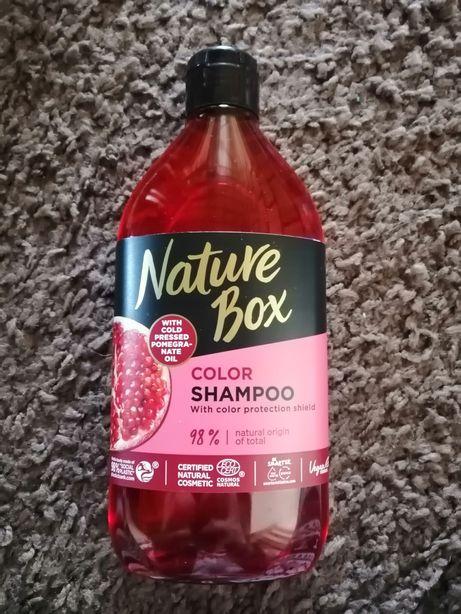 Nature Box szampon 385ml granat do włosów farbowanych nowy