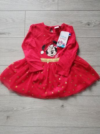 Sukienka świateczna Disney Mickey r.74 Nowa