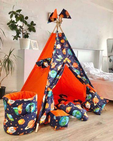 Палатка вигвам, детский игровой домик. Отправка в день заказа.