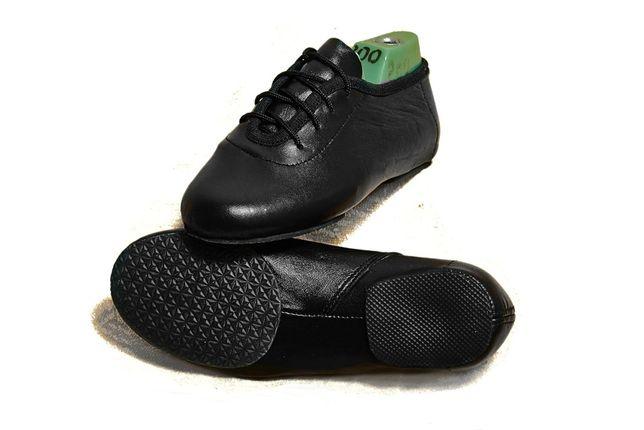 Джазовки для танцев черные низкие натуральная кожа от производителя
