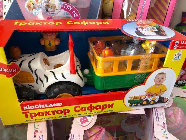 Игровой набор - Трактор сафари с животными кидиленд kiddieland