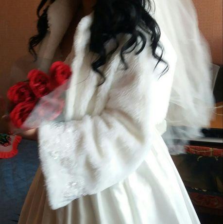 Весільна шубка,свадебная шубка,шуба,болеро,накидка,полушубок