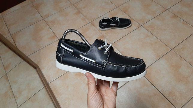 38р,24,5см,Кожаные ботинки,полуботинки,топсайдеры,туфли, отличное сост