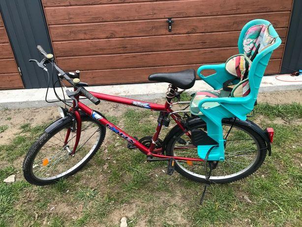 rower turystyczny z fotelikiem dla dziecka