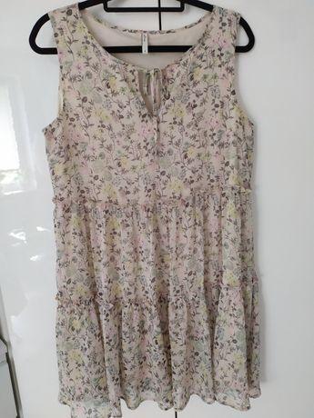 Letnia zwiewna sukienka kwiaty