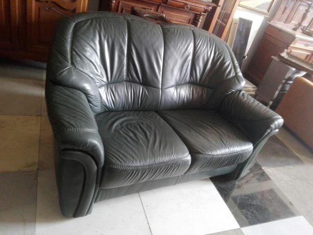 Sofa skorzana dwojka