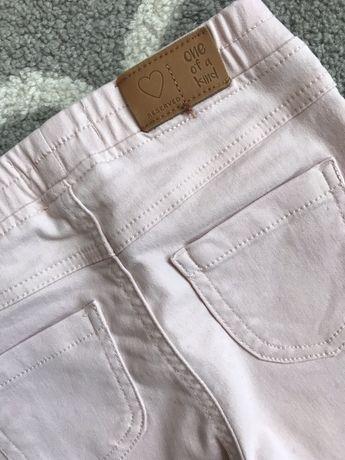 H&M Reserved Jegginsy rurki dżinsy r.110 pudrowy róż