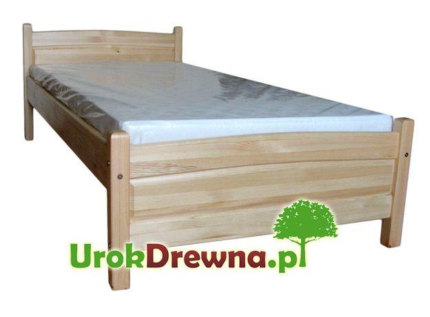 Łóżko drewniane jednoosobowe pojedyncze 90x200 sosnowe Filonek, Wysyłk