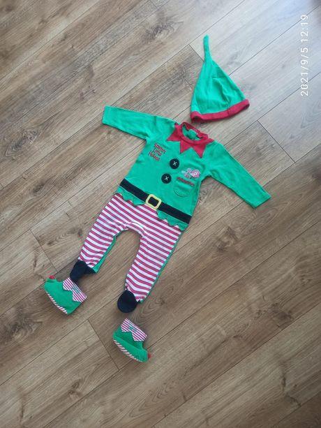 Strój Elfa 9/12 miesięcy rozm 80