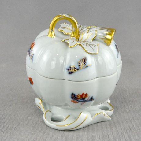 Caixa Abóbora em Porcelana Vista Alegre – Decoração Imari