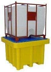 Tina Base de retenção para 1 depósito cisterna de 1000lts