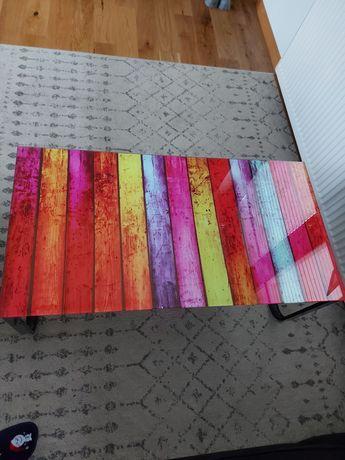 Szklana kolorowa lawa stolik Agata meble