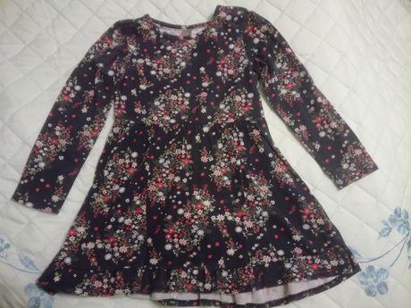 Sukienka- wygodna i urocza- rozmiar 128 cm.