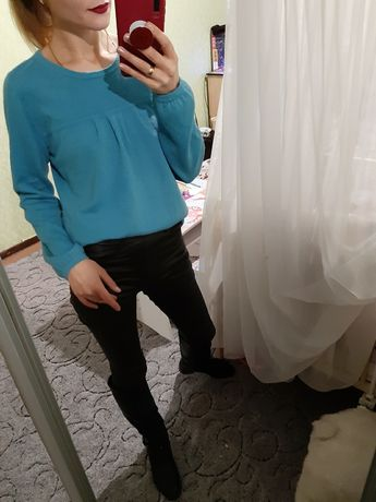 Мягенький кашемировый 100% свитер, джемпер оверсайз Италия