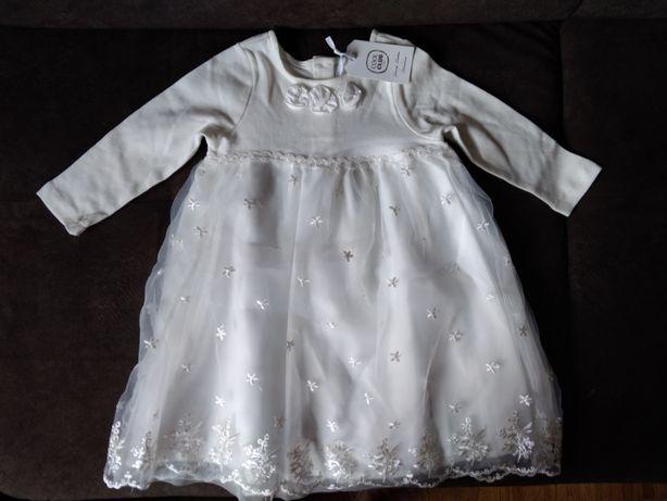 NOWA (z metką) piękna sukienka na roczek r. 80 Cool Club
