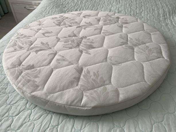 2 матрасика IngVart для круглой и овальной кроватки