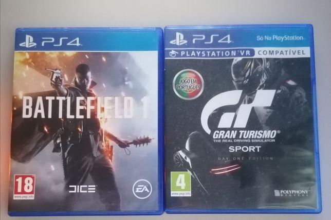 Vendo jogos ps4 GT Sport e Battlefield 1