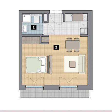 Sprzedam 2 pokojowe mieszkanie na ul. Kazimierza Wielkiego