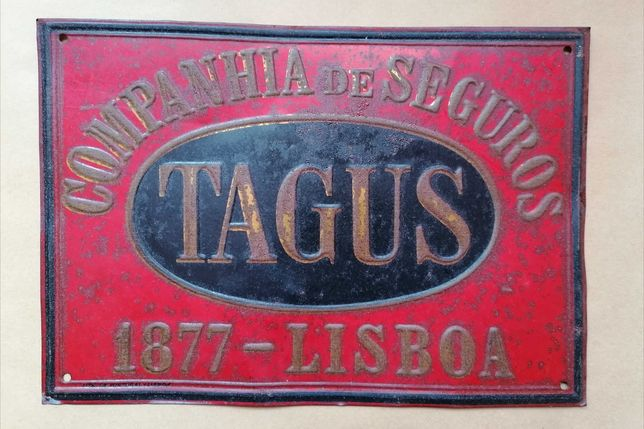 Placa / Chapa Companhia Seguros Tagus