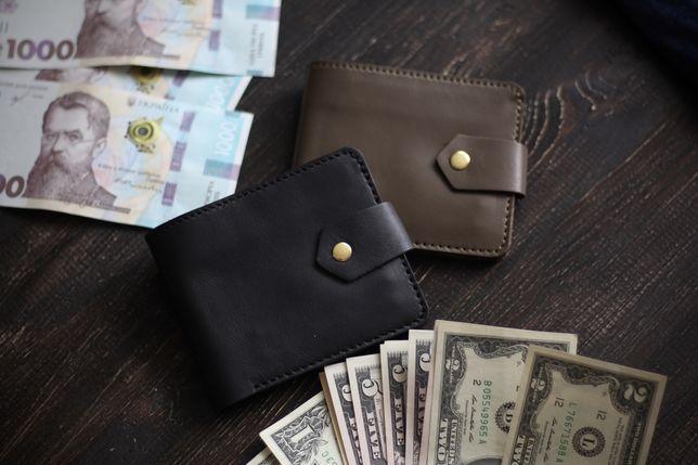 Чоловічий шкіряний портмоне/гаманець/кошелек кожаный