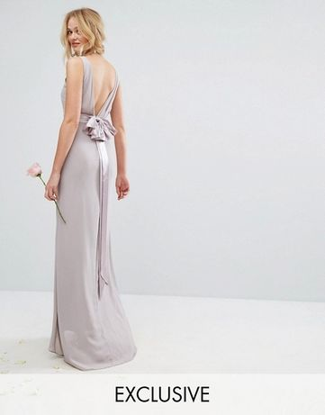 Suknia wieczorowa szara- NOWA
