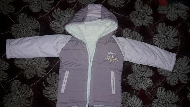 Зимова курточка на дівчинку