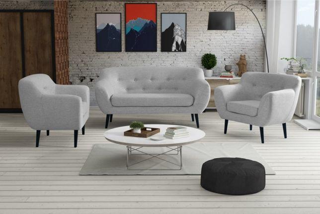 Zestaw 2+1+1 Sofa ,Kanapa, Fotel ,PRL , VINTAGE, Skandynawski styl!