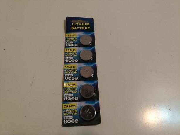 5 Pilhas Lithium 3V CR2025 Novas e Frescas