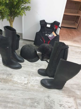 Hipismo botas capacete ( toque)