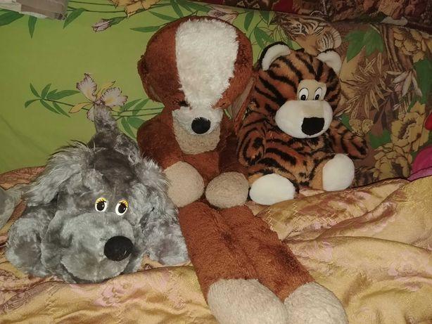 Мягкие игрушки собака тигр рюкзак