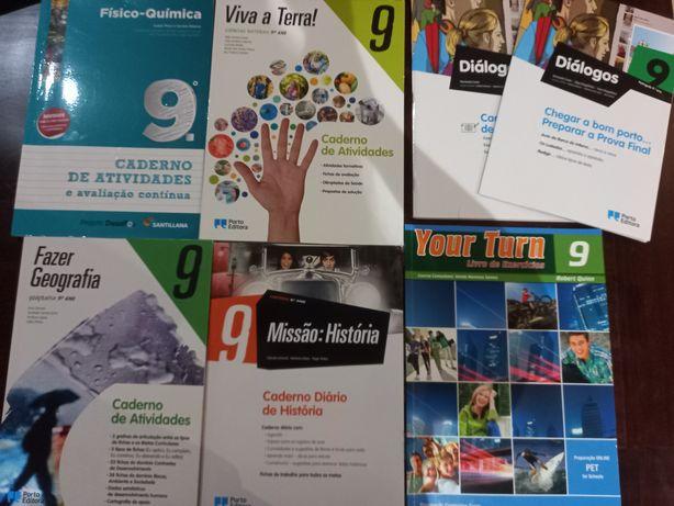 cadernos de atividades do 9.° ano