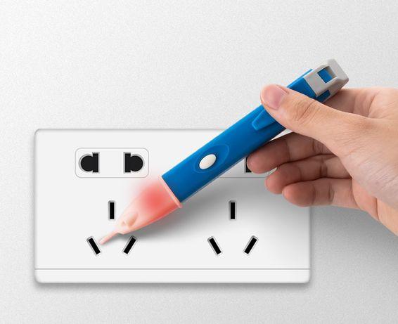 Тестер-индикатор напряжения бесконтактный +звук +свет 1АС-D индукция