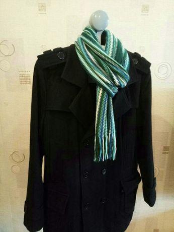 Мужское черное пальто (демисезон)