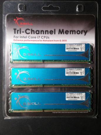 Трехканальная память для intel Core i7CPUs DDR3 -1333 G.Skill 6G(2GBx3