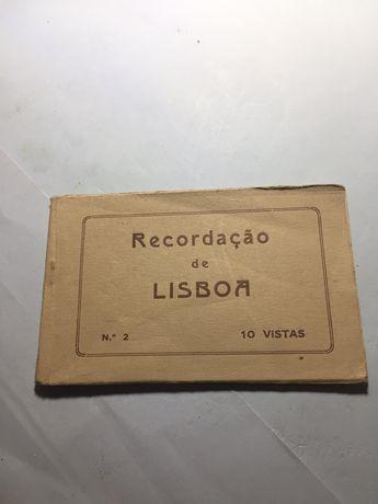 Coleção de 10 postais antigos