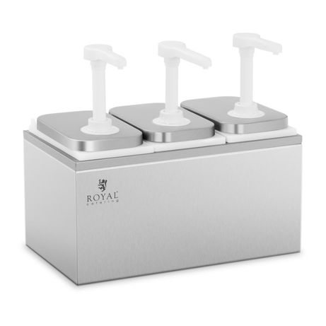 Dispensador de molhos com válvula - triplo - 3 x 2 litro na embalagem